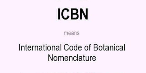 What is the meaning of ICBN?