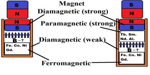 Explain Properties of Diamagnetic Substances