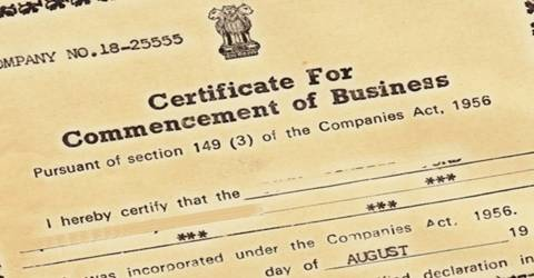Commencement of Business in terms of Company law