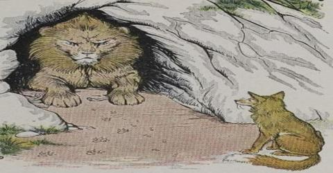 Moral Story: The Old Lion and the Fox