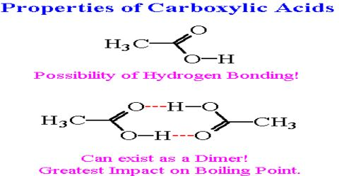 Physical Properties of Carboxylic Acids