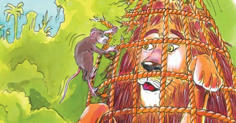 Moral Story: The Lion and the Mouse