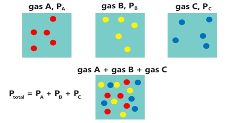 Equation of State of a Gas Mixture: Dalton's Law of Partial Pressure