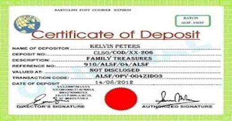Certificate of Deposit: Money Market Instrument