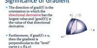 Physical Significance of Gradient