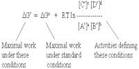 Standard Free Energy Change and Equilibrium Constant
