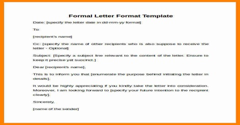Features or Elements of Official Letter