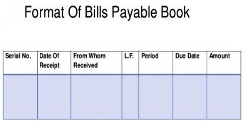 Bills Payable Book