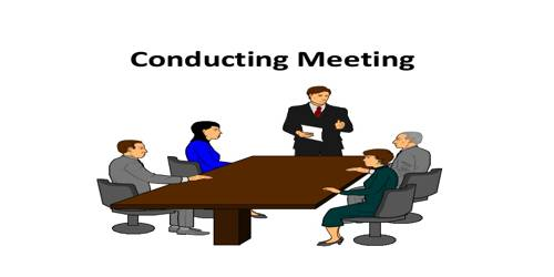 Duties to be performed in Conducting Meeting