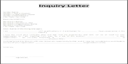 Contents or Elements of Business Status Inquiry Letter