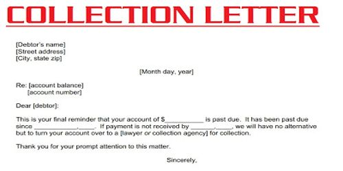 Features of Collection or Dunning Letter