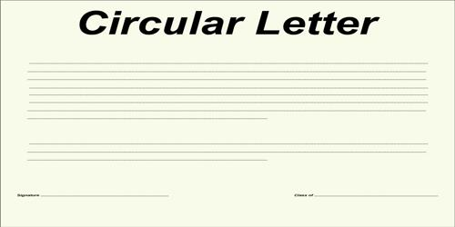 Situations that Require Circular Letter