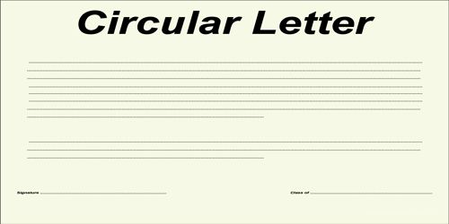 Use of Circular Letter for announcing Change of Business Address