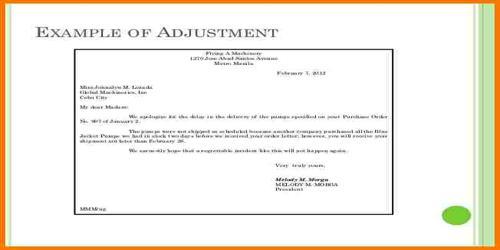 Types of Adjustment Letter