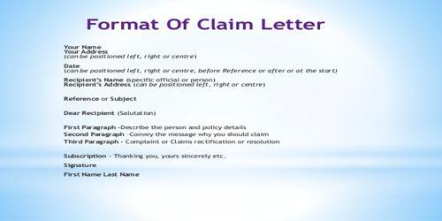 Characteristics of Good Claim Letter
