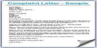 Meaning of Complaint Letter