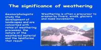 Significance of Weathering