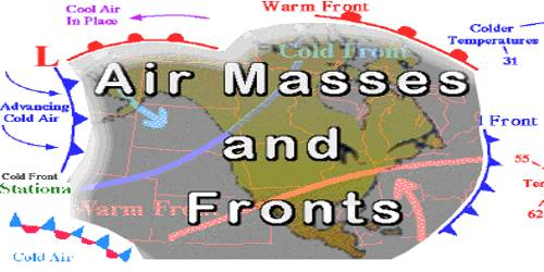 Fronts of Air Masses