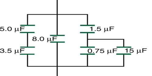 Series Combination of Equivalent Capacitance