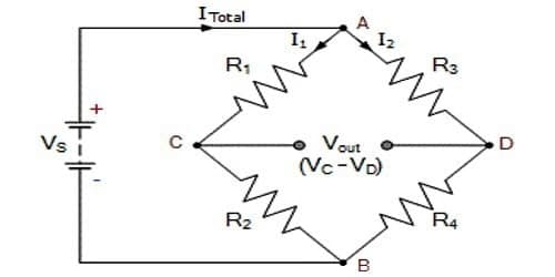 Establishment of Wheatstone bridge principle by using Kirchoff's Laws