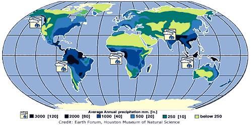 World Distribution of Rainfall