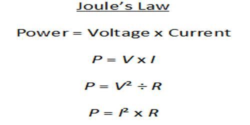 Joule's Laws of Heat
