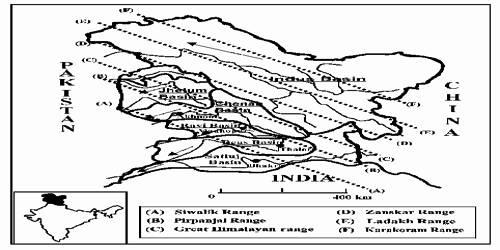 Kashmir or Northwestern Himalayas