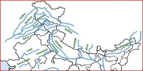 Indian Subcontinent Drainage System