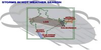 Some Local Storms of Hot Weather Season in Indian Subcontinent