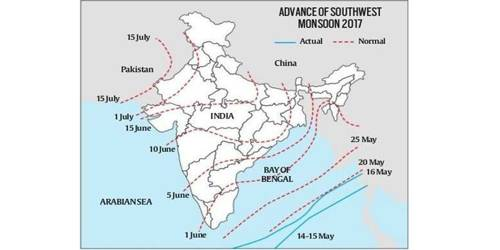 Onset of the Indian Monsoon