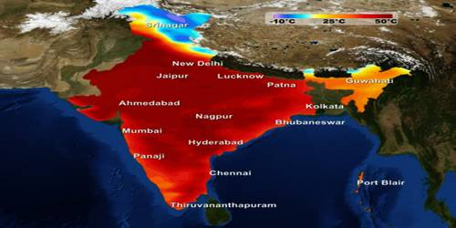 Temperature of the Hot Weather Season in Indian Subcontinent