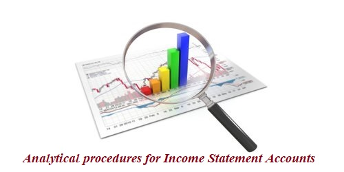 Analytical procedures for Income Statement Accounts