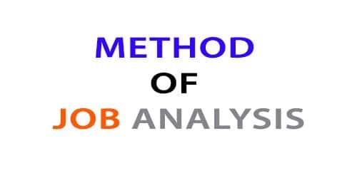 Method of Job Analysis