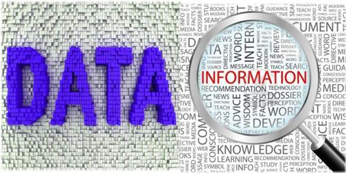 Differentiate between Data and Information