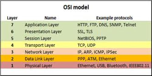 Layers of Open System Interconnection (OSI)
