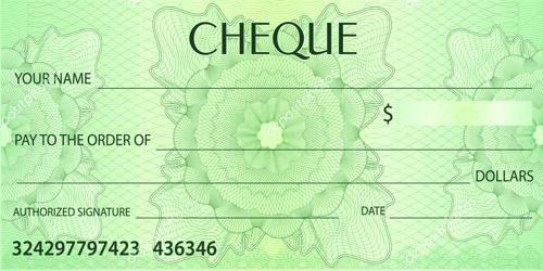 Specimen of Cheque