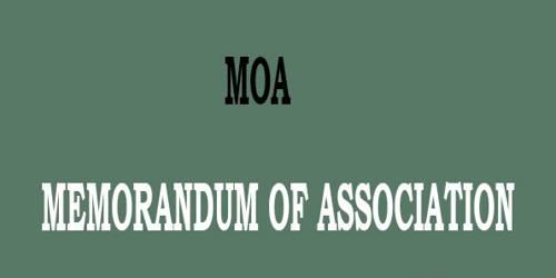 Contents of a Memorandum of Association