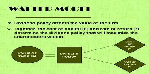 Assumptions of Walter's theory of Dividend Policy