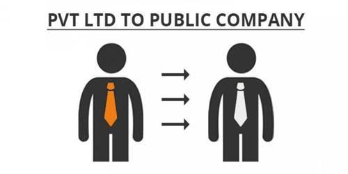 Procedure for conversion of a private company to public company