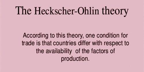 Explain the Heckscher Ohlin Theory of International Trade