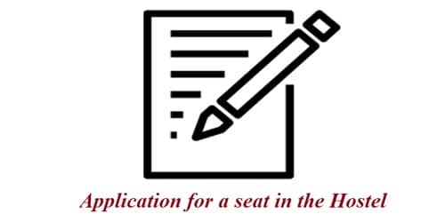 Application format for a seat in the Hostel