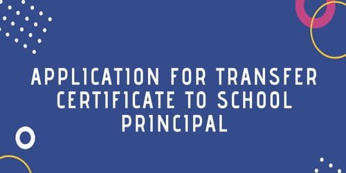 Application to Principle for Transfer Certificate