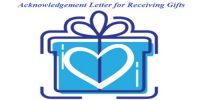 Acknowledgment Letter for Receiving Gifts