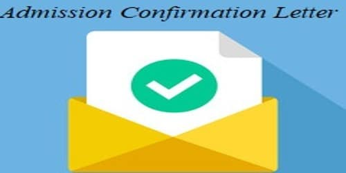 Admission Confirmation Letter to Students