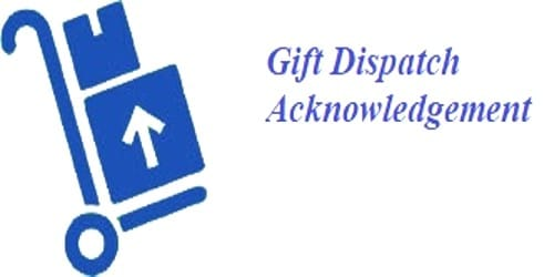 Letter for Gift Dispatch Acknowledgement with Thanks