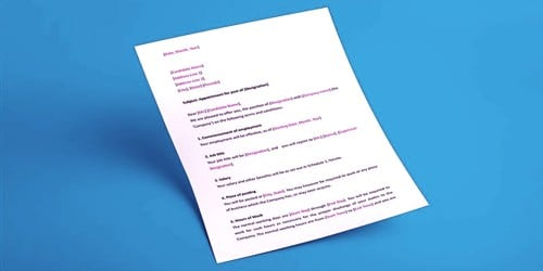 Acknowledgement Letter of Receiving Job Appointment Letter