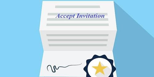 Letter for Accept Invitation