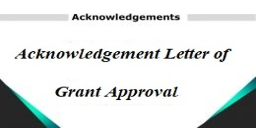 Acknowledgement Letter of Grant Approval