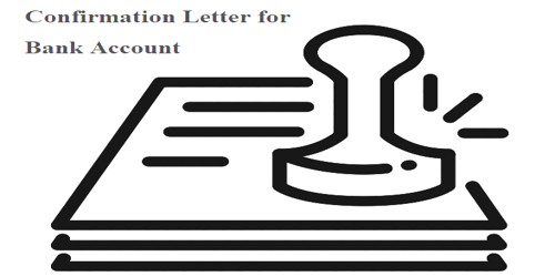Confirmation Letter to Client for Bank Account