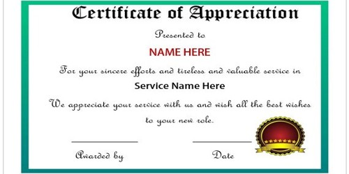 Application for Leaving Job Certificate